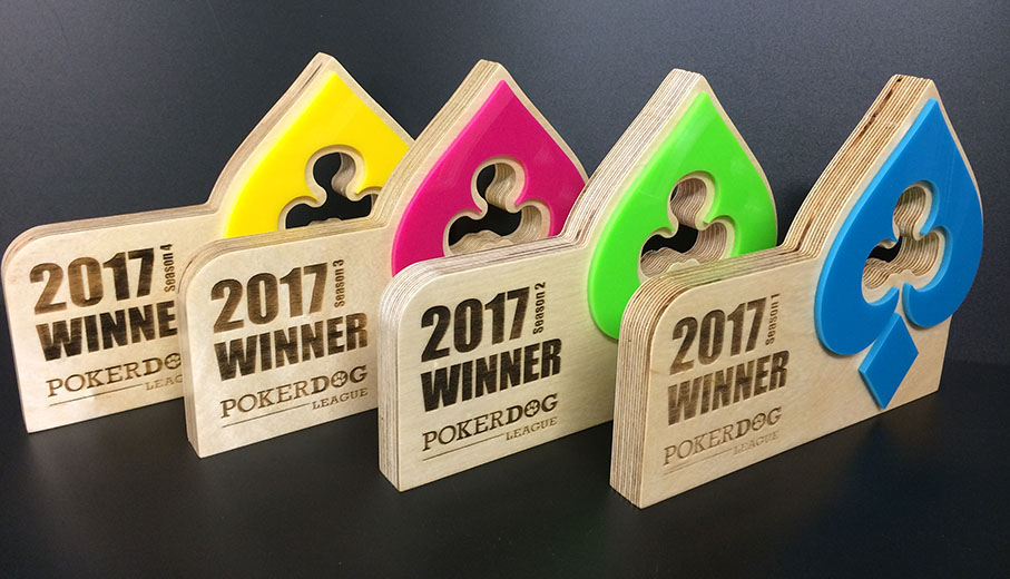 Customised poker award manufacturer with lots of material options